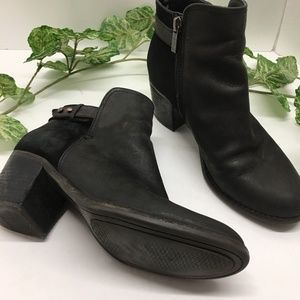 Sperry Ambrose Black Leather & Suede 7.5 Bootie